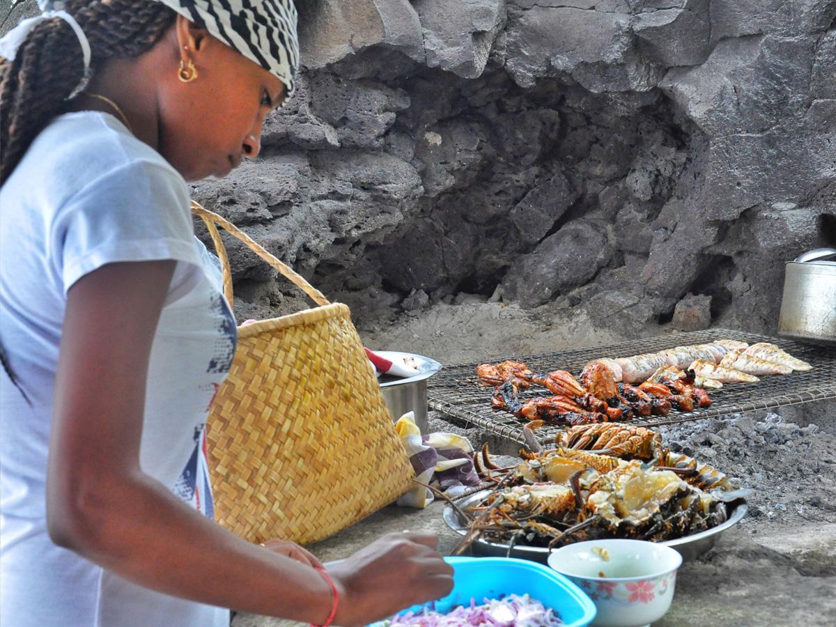 Les fruits de mer au barbecue