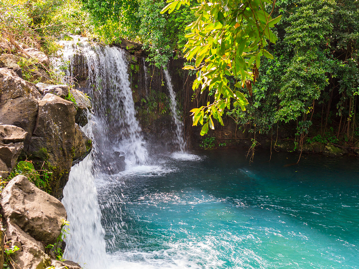 La cascade d'Eau Bleue