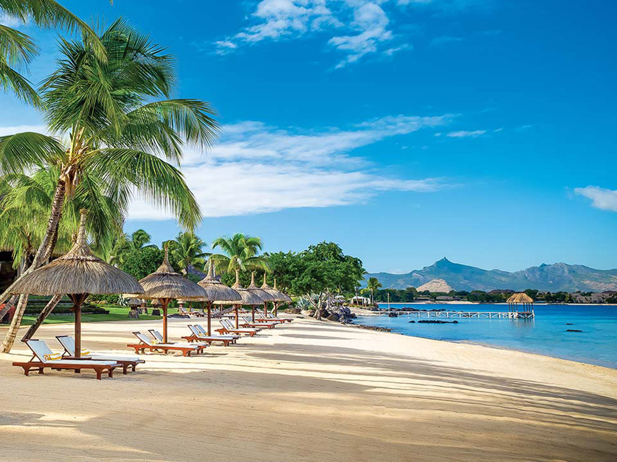 La magnifique plage de l'hôtel The Oberoi