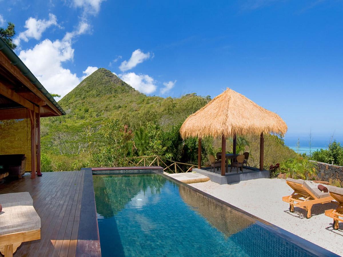 Superbe villa avec piscine au Lacaz Chamarel