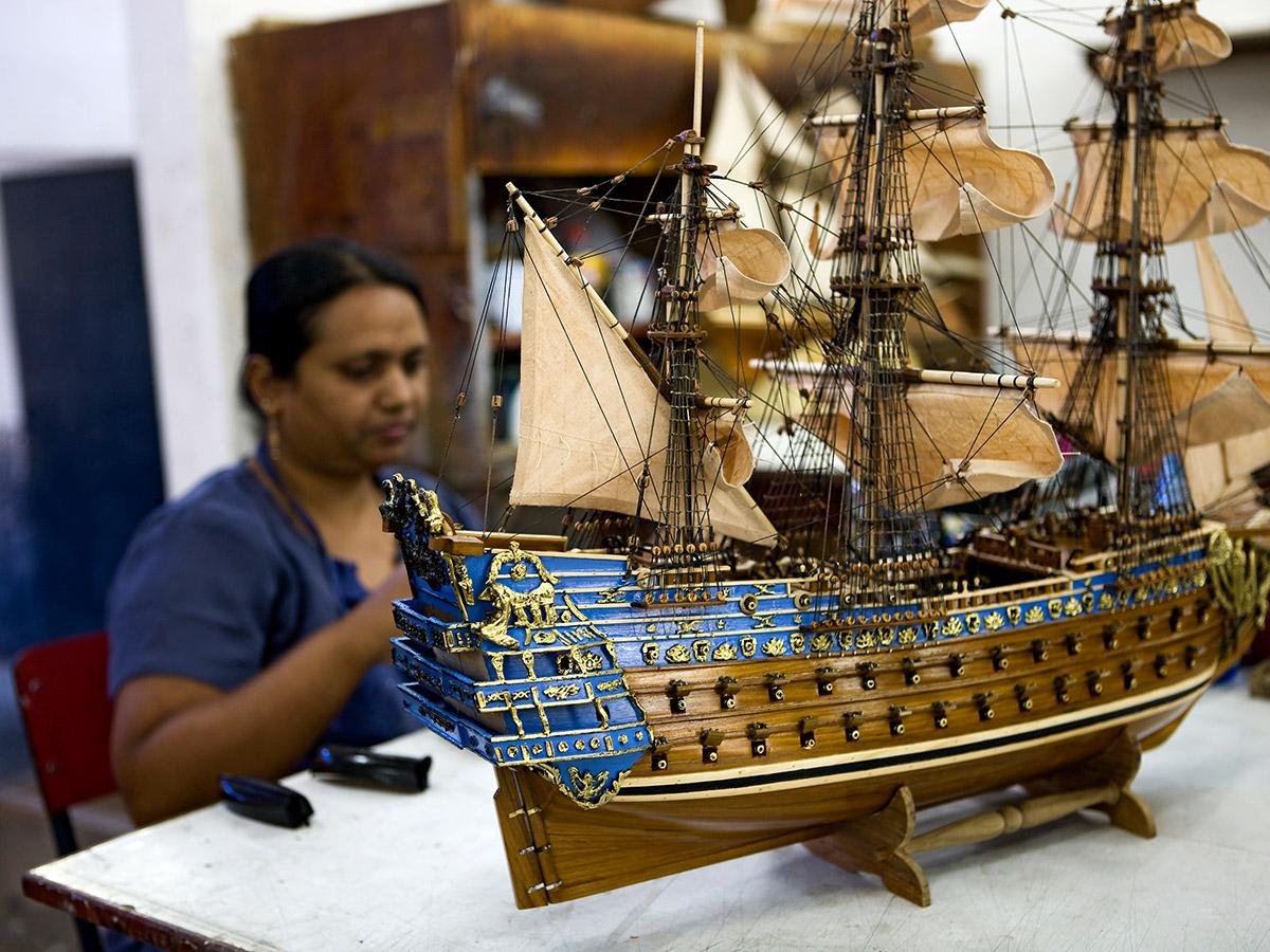 Maquette de bateau traditionnel