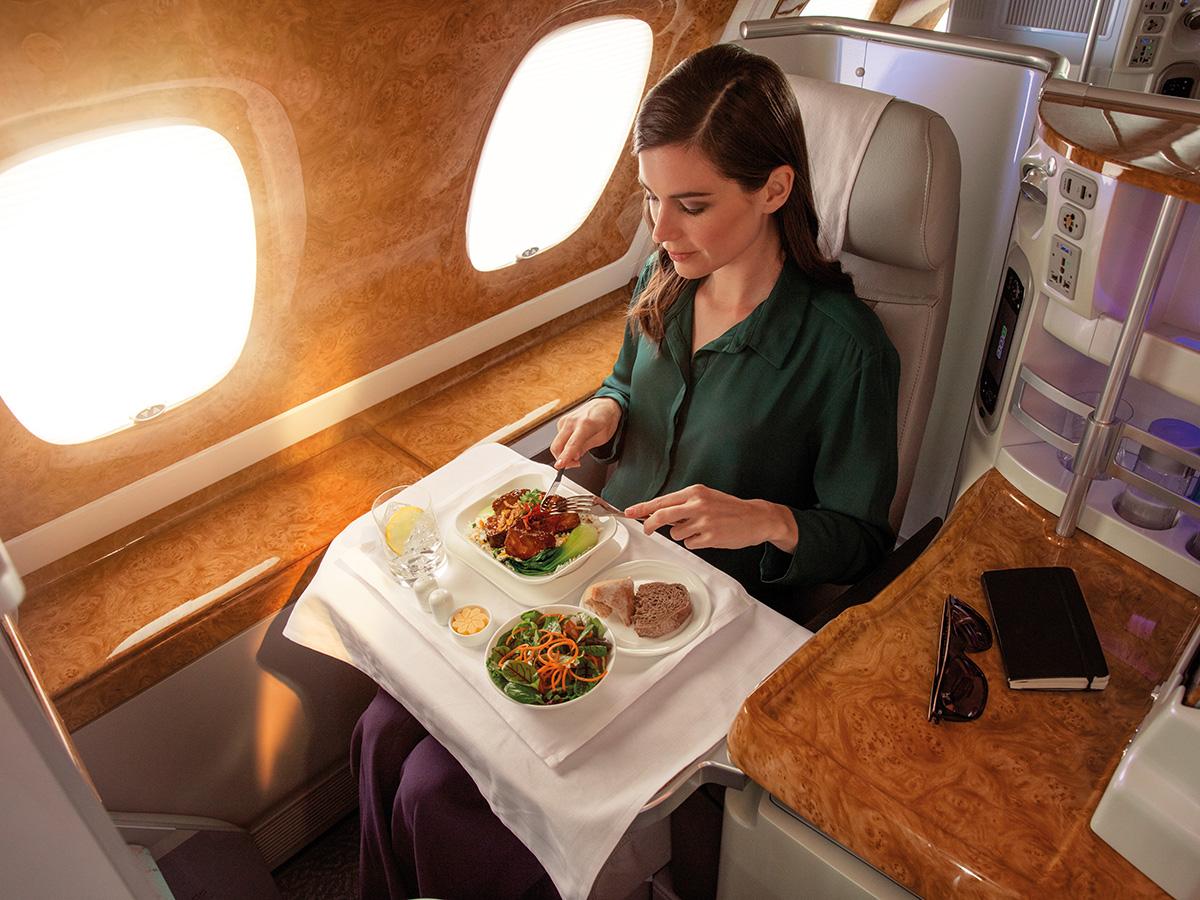 Savourez un repas gastronomique en Classe Affaires