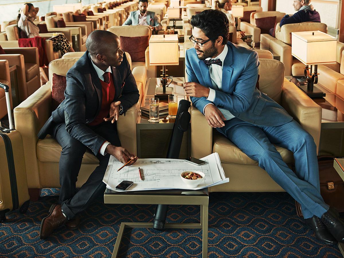 Le salon Emirates, un moment de détente avant le vol