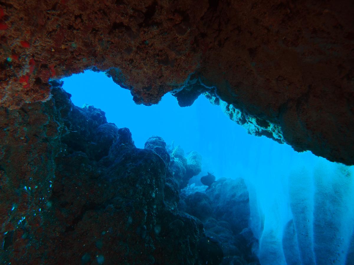 Plongée grotte à Rodrigues