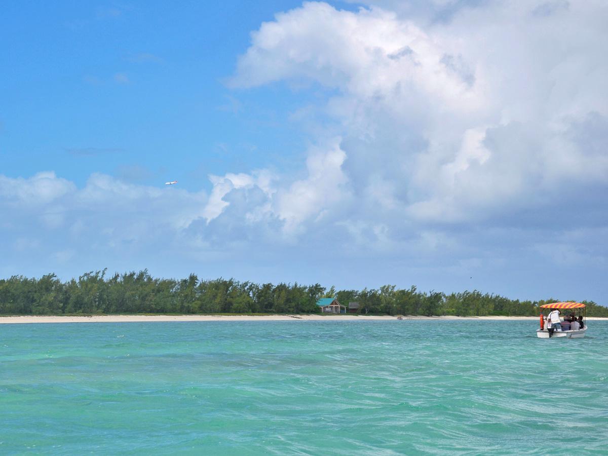 L'océan aux différentes nuances de bleu