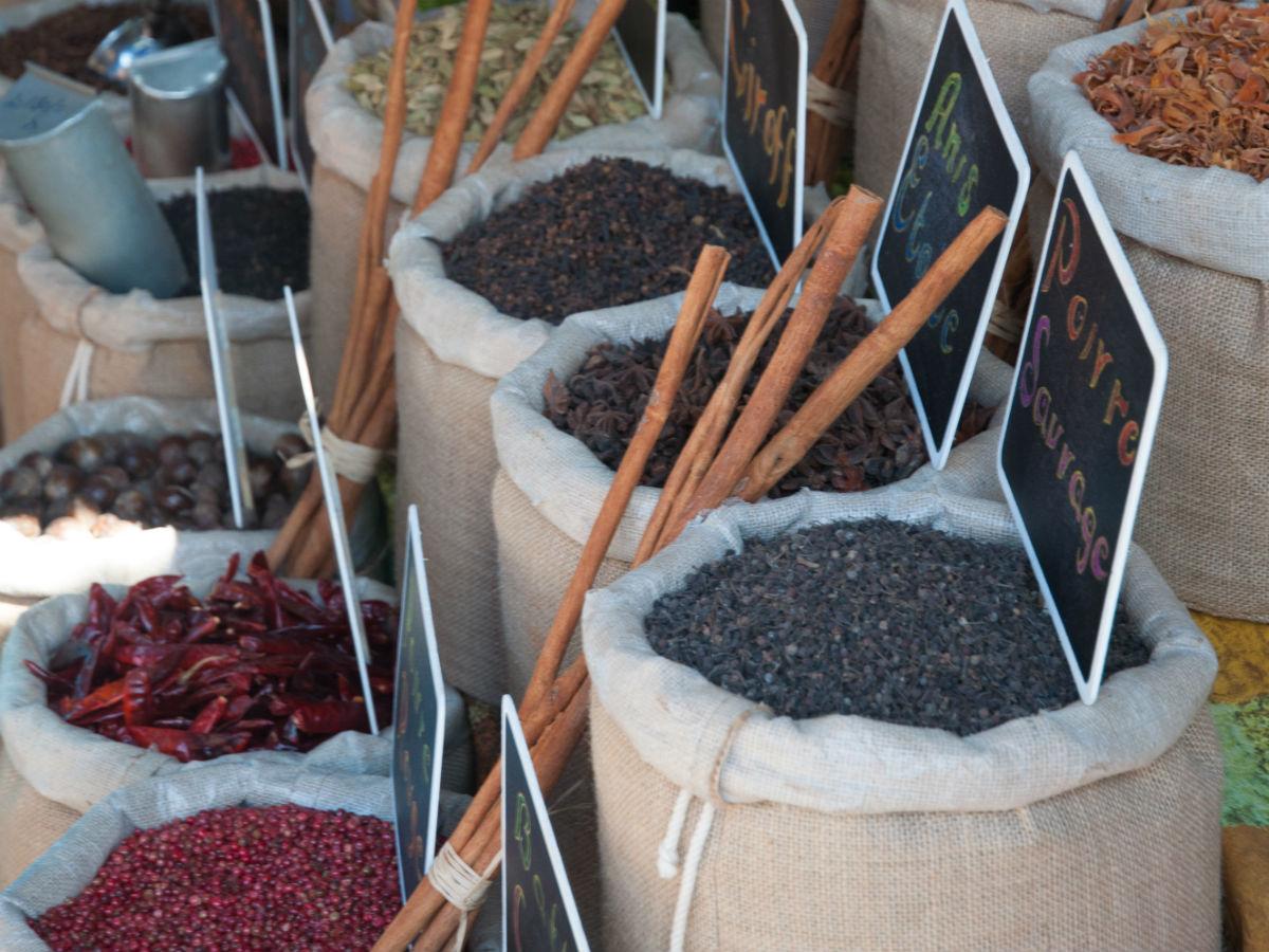 Les épices du marché de Port-Louis