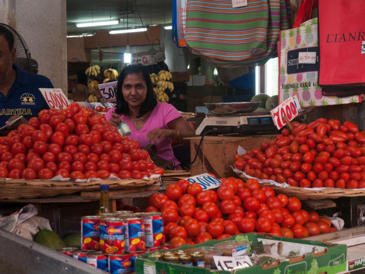 Les légumes frais du marché