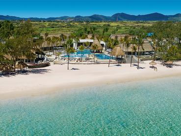 Vue aérienne de l'Ambre Resort & Spa à Belle Mare
