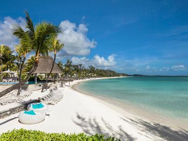 La plage de l'Ambre Resort, l'une des plus belles de l'île Maurice