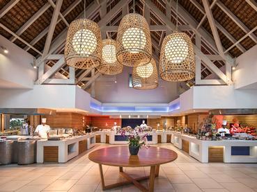 Le restaurant principal Indigo de l'Ambre Resort