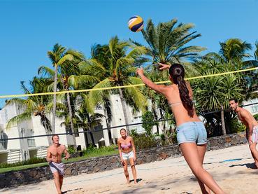 Beach Volley à l'hôtel Ambre Resort à Belle Mare