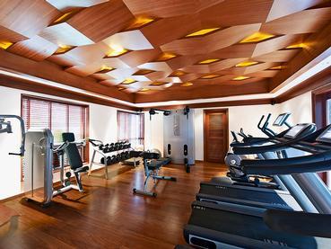 La gym de l'Angsana Balaclava dans la Baie aux Tortues