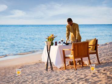 Dîner romantique sur la plage de l'Angsana Balaclava