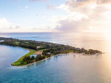 Vue aérienne du Paradis, l'un des meilleurs hôtels de l'île Maurice