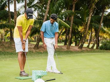 Initiation au golf à l'hôtel Paradis à l'île Maurice