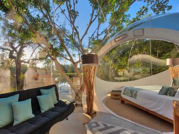 Lake & Sea View du Bubble Lodge à l'île aux Cerfs