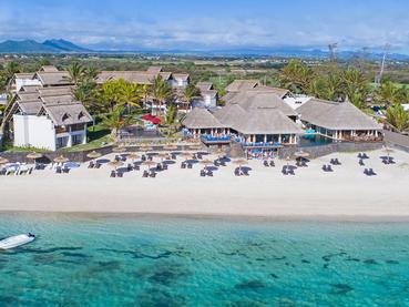 Vue aérienne du C Mauritius, un hôtel résolument contemporain