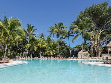 La superbe piscine de l'hôtel Le Canonnier à l'Ile Maurice