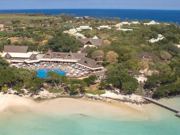 Vue aérienne sur le Club Med La Plantation d'Albion