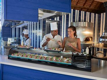 Profitez des délicieux fruits de mer du restaurant Indigo du Constance