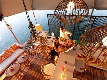 Le bar Flottant de l'hôtel Constance à l'île Maurice