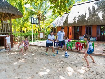 Le kid's club de l'hôtel Dinarobin à l'île Maurice