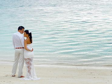Mariage au Dinarobin situé à l'Ile Maurice