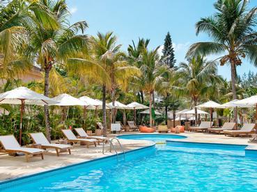 La piscine du Friday Attitude situé à l'est de l'île Maurice
