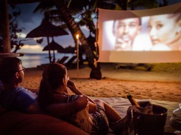 Le cinema en plein air de l'Heritage Awali