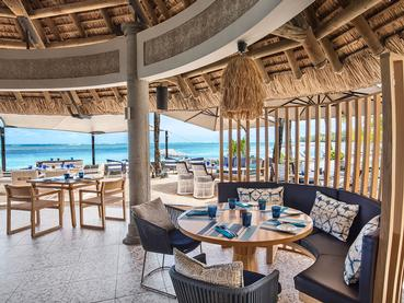 Le restaurant Infinity Blue de l'hôtel Heritage Awali