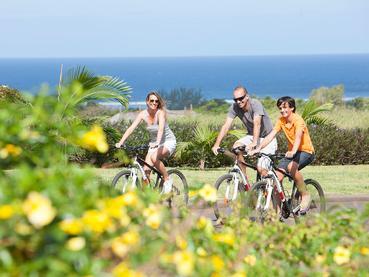 Balade à vélo à l'Heritage The Villas à l'île Maurice