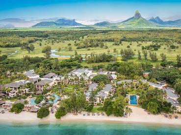 Vue aérienne de l'Hilton Mauritius Resort & Spa