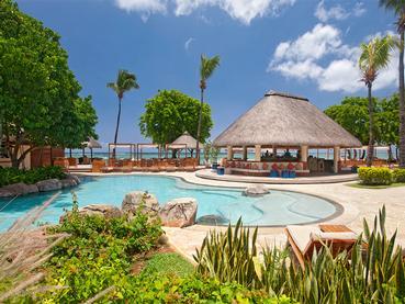 L'Aqua Bar de l'hôtel Hilton situé à l'île Maurice