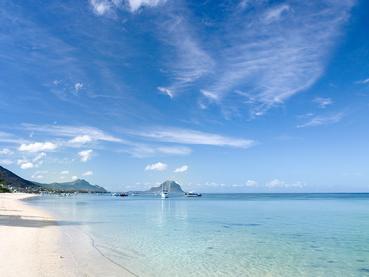La plage de l'Hilton, l'une des plus belles de Maurice