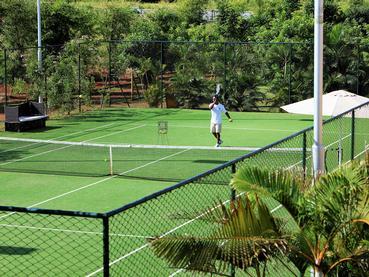 Le court de tennis de l'hôtel Intercontinental Mauritius