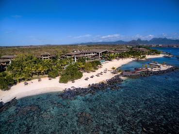 Vue aérienne de l'Intercontinental Mauritius Resort