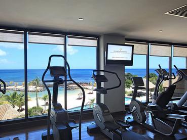 La gym de l'hôtel Intercontinental Mauritius Resort