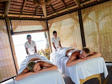 Cabine de massage extérieure de l'Ambre Resort