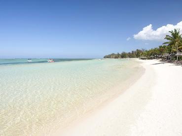 La plage de l'hôtel Heritage Le Telfair à l'île Maurice