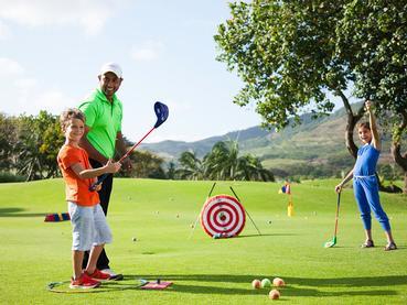 Initiation au golf à l'hôtel Le Telfair à Bel Ombre