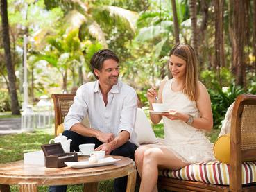 Dégustez votre thé dans le jardin verdoyant du Telfair