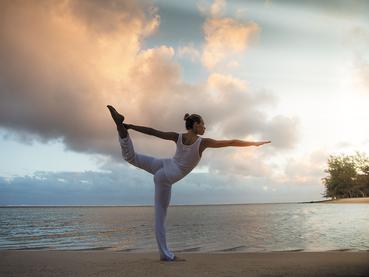 Yoga à l'Heritage Telfair situé au sud de l'île Maurice