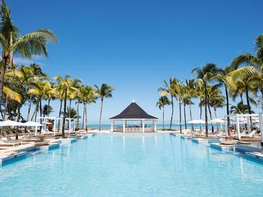 La piscine de l'Heritage Le Telfair Golf & Wellness Resort