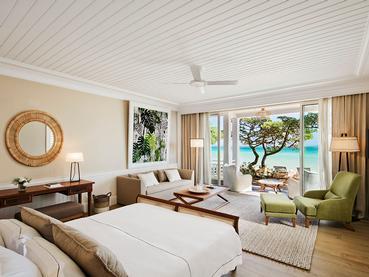 Deluxe Beachfront Suite de l'hôtel Heritage Le Telfair