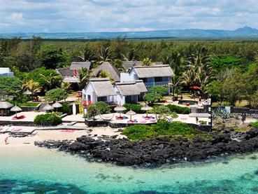 Vue aérienne de La Maison d'Été à l'île Maurice