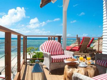Petit déjeuner en chambre à La Maison d'Été à l'île Maurice