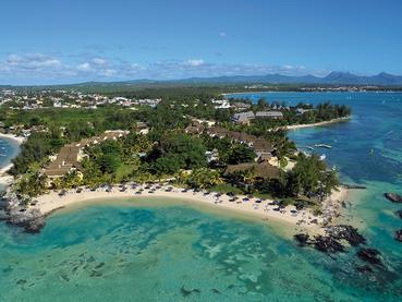 Vue aérienne de l'hôtel Le Canonnier à Grand Baie