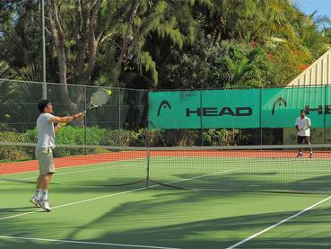 Le court de tennis du Canonnier à Grand Baie