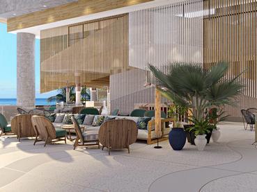 Le lobby du Méridien à l'île Maurice