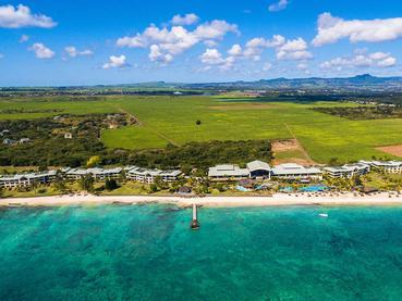 Vue aérienne de l'hôtel Le Méridien à Île Maurice